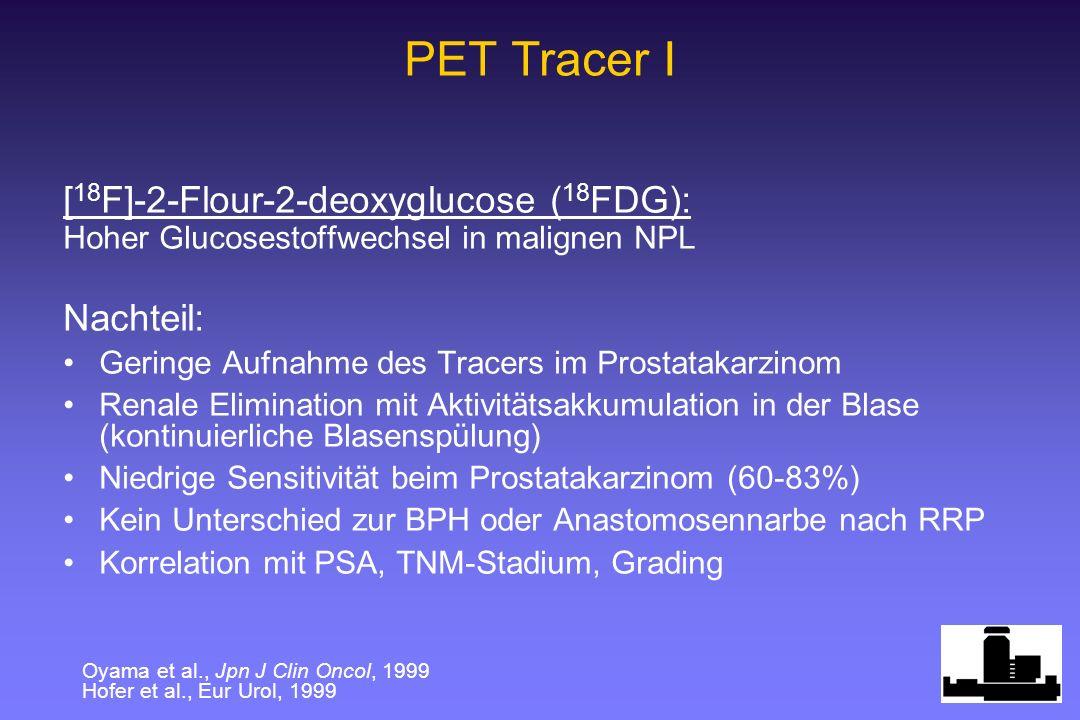 PET Tracer I [18F]-2-Flour-2-deoxyglucose (18FDG): Nachteil: